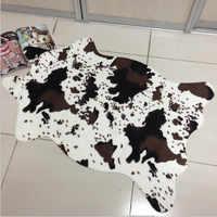 New Arrival PV Velvet Imitation Animal Skins Rugs and Carpets Cow Zebra Carpet 110*75cm Carpets For Living Room Bedroom