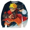 Harajuku men/women's 3d sweatshirt cartoon print anime Uzumaki Naruto crewneck pullover hoodies tops clothing plus size S-XXL
