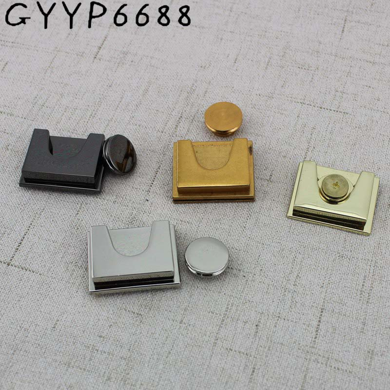 2sets 5colors High Quality Square Lock Metal For Handbags Factory Hardware Wholesale Bag Parts Accessories