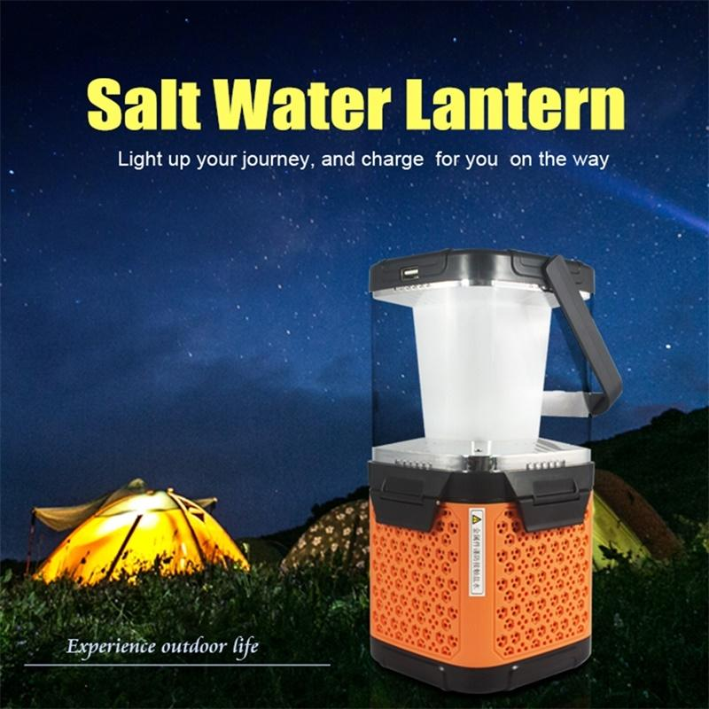 LumiParty Multi-function Outdoor Camping Lamp Portable LED Emergency Light Brine Power Generation Lantern Camping Hiking Pinic large flashlight solar charging camping lantern camping lantern portable lamp outdoor lighting emergency power old man lamp