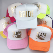 8882454af38 C Fung 2018 new TEAM BRIDE Bachelorette Wedding party Trucker Caps White  Neon