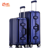 100% fully Aluminum magnesium alloy trolley case 20/25 inch spinner aluminum metal rolling luggage business trolley valise cabin