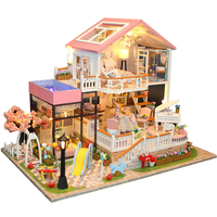Arts Gifts DIY Handmade Home Wooden Toys Doll House Miniature Children Mini Accessories Kids Staircase Furnitures