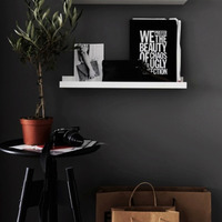 HaokHome Classic Peel And Stick Black Wallpaper Self Adhesive Furniture Sticker Contact Paper Living Room Bedroom
