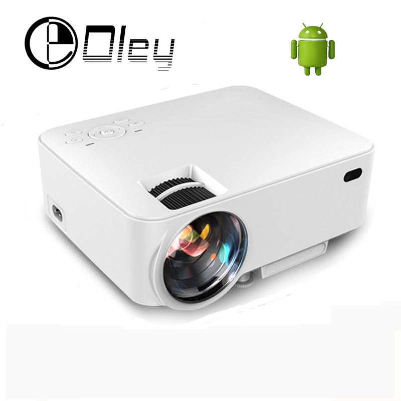 New portable digital mini android 4 4 wifi bluetooth smart led lcd projector hd 1080p home for Small bluetooth projector