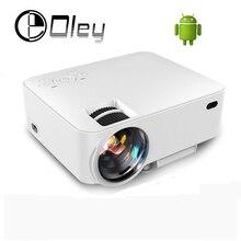2016 Nuevo Digital Portátil Mini android 4.4 Wifi Bluetooth inteligente LED Proyector LCD HD 1080 P del Teatro Casero Beamer con USB SD HDMI