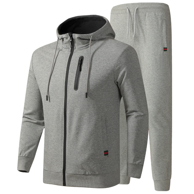 Men's Tracksuit Spring Autumn Cotton Sportswear Suits Male Casual Sets Sweatshirt+Pants Quality Clothes Asian Size L-6XL