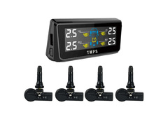 TPI08 built -in solar power TPMS Tire Pressure Monitoring System with 4 internal sensors RF wireless save gas with LCD panel