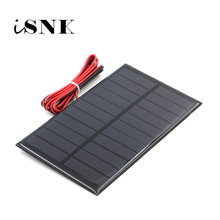 5 5V Solar Panel with 30 100 200cm wire Mini Solar System DIY For Battery Cell