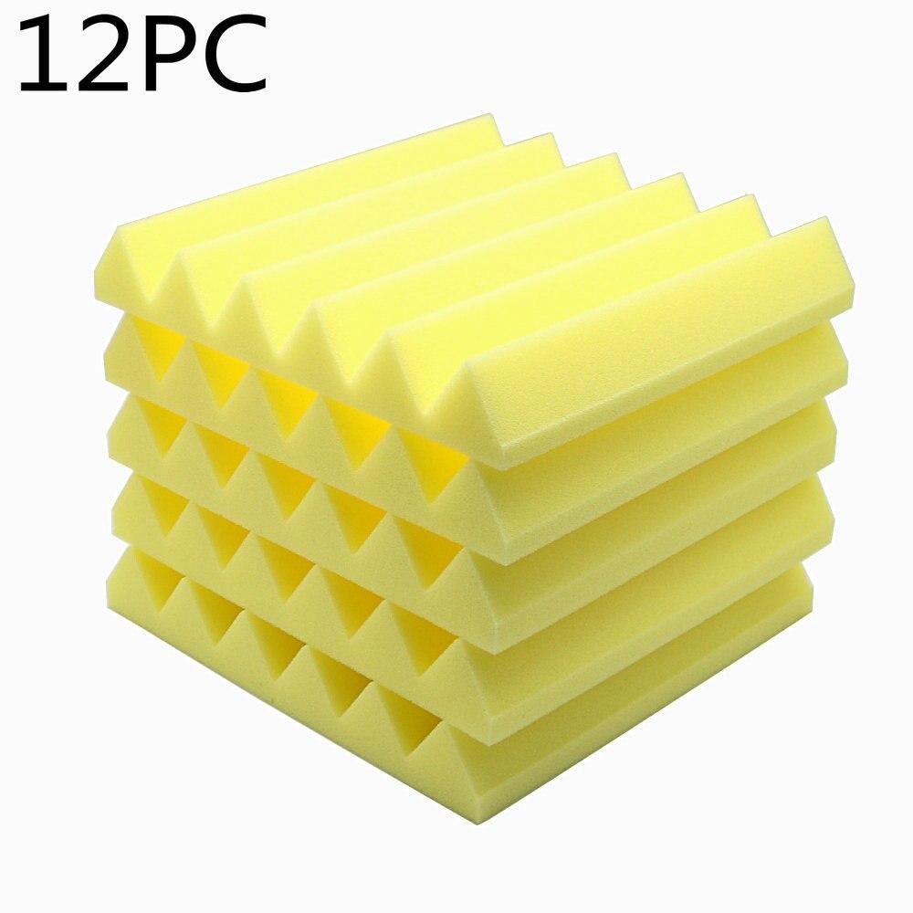 12pcs Acoustic Soundproof Stop Absorption Wedge Studio Foam 12\