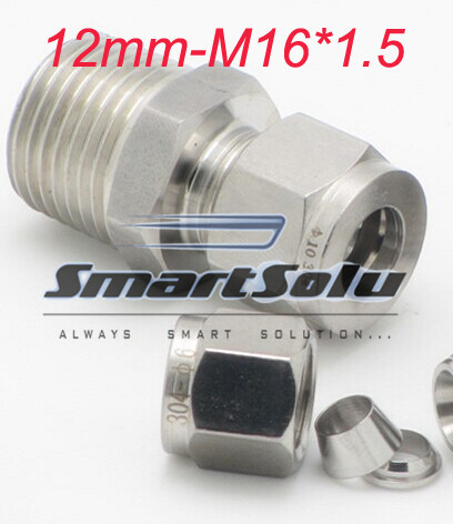 Free Shipping 2pcs Lots 12mm M16 1 5 Thread Stainless