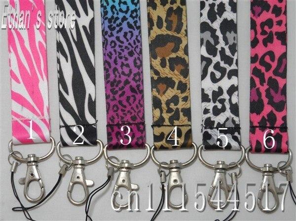 bilder für Freies Verschiffen Leopard trageband Animal Print ID schlüsselband viele mischungsauftrag