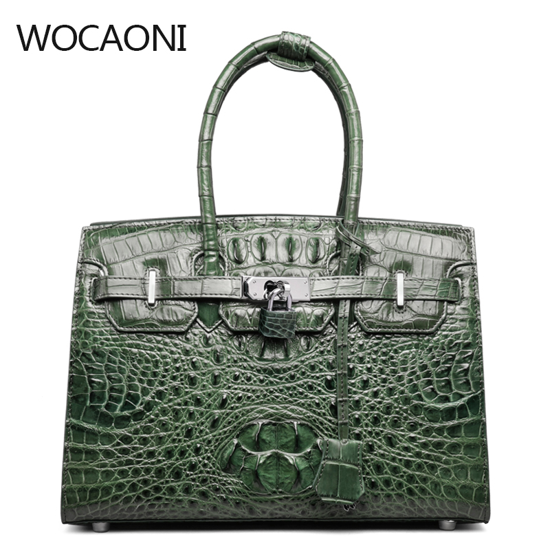 Qiwang Authentic Women Crocodile Bag 100% Genuine Leather Women Handbag Hot Selling Tote Women Bag Large Brand Bags Luxury qiwang authentic women crocodile bag 100% genuine leather women handbag hot selling tote women bag large brand bags luxury