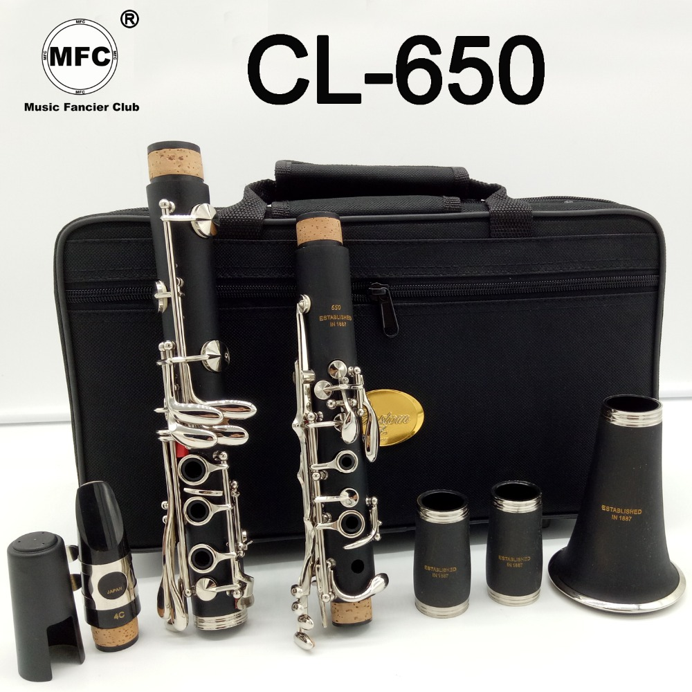 Brand New Music Fancier Club Matte ABS Resin Clarinet MFCCL-650 Bakelite Clarinets Professional Bb Mouthpiece 4C Included Case