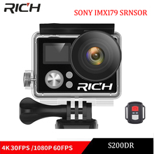 2018 NEW S200DR 4K Action Camera 2.0 Double LCD Display 16MP Sports WiFi Camera 30M Waterproof 170 angle HDMI sport camera