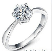 S925 Sterling Silver Ring Round Cubic Zirconia Wedding Ring Band Ring Any Size Available Wholesale Or