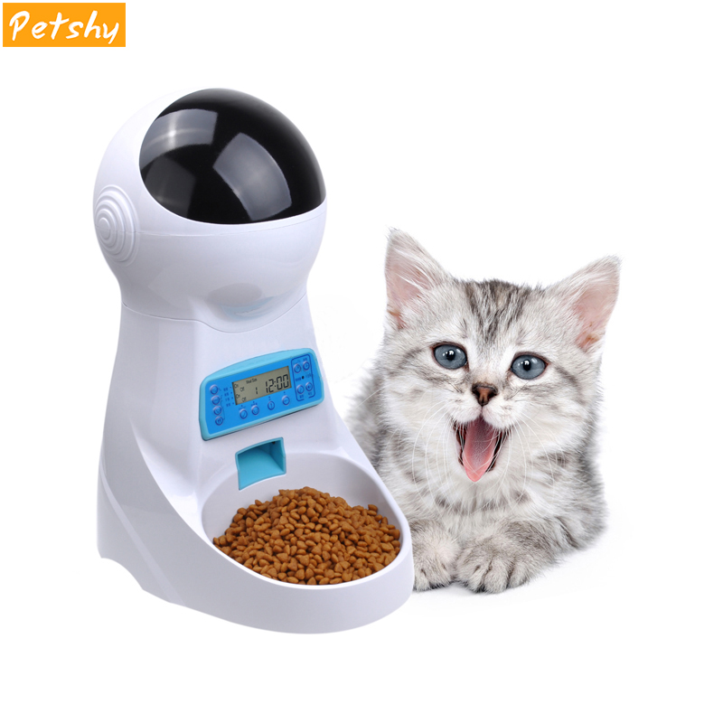 Petshy 3L Automatic Pet Food Feeder Voice Recording / LCD Screen Bowl For Medium Small Dog Cat Feeding Dispensers Pet Products
