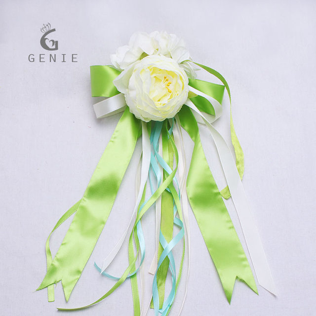 Online shop genie artificial flowers rustic wedding car decoration genie artificial flowers rustic wedding car decoration set love heart peony silk flower pull ribbon bows diy car decor supplies junglespirit Choice Image
