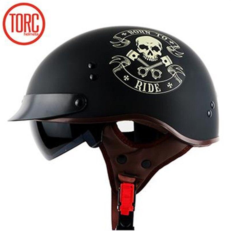 DOT standard hal face helmet TORC T55 motorbike helmet cool max liner chopper bike style casco for man and woman geniune TORC