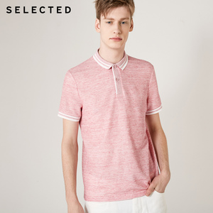 Image 4 - اختيار الرجال الصيف الكتان مزج مخطط قصيرة الأكمام Poloshirt S