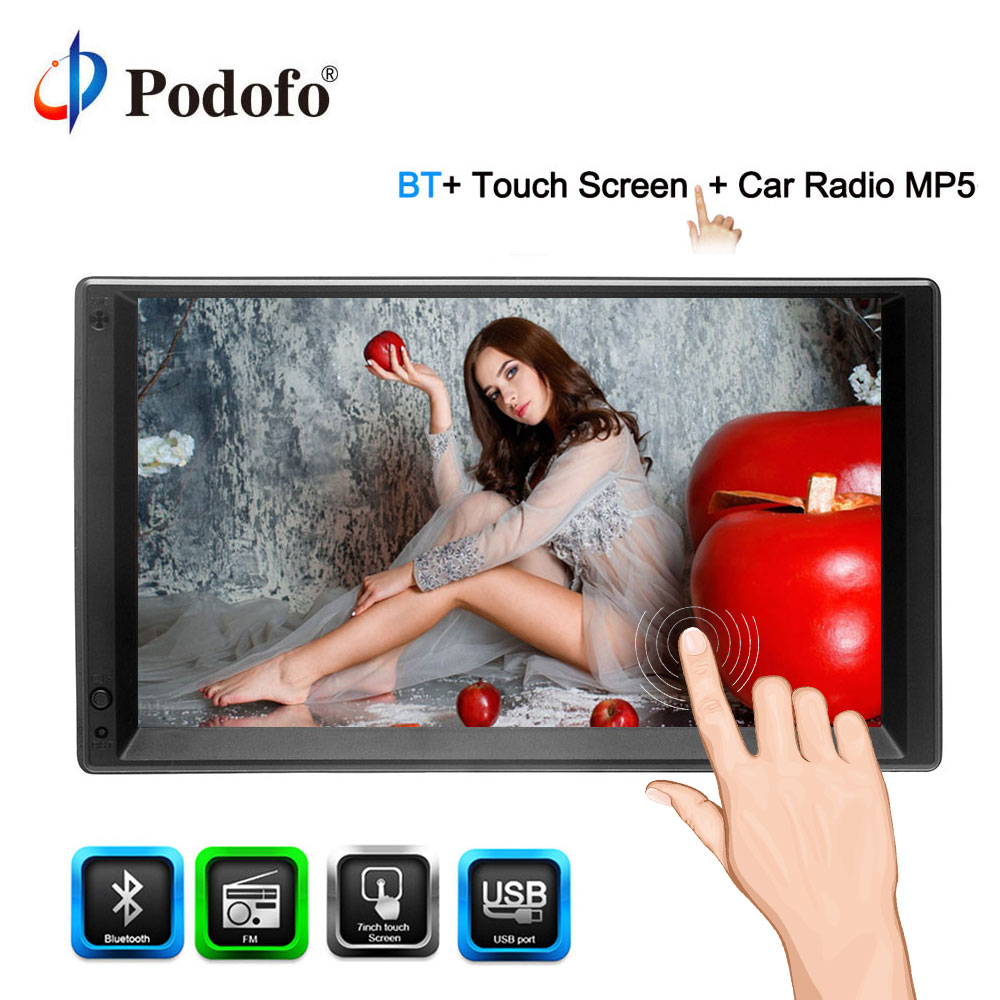 Podofo 2 Din Android 7 '' Universal Car Multimedia Player GPS Navigation Car Radio Player Touch Screen Video Stereo MP5 Player podofo 2 din 7 touch android 8 0 universal car radio audio gps navigation bluetooth car stereo fm usb car multimedia mp5 player
