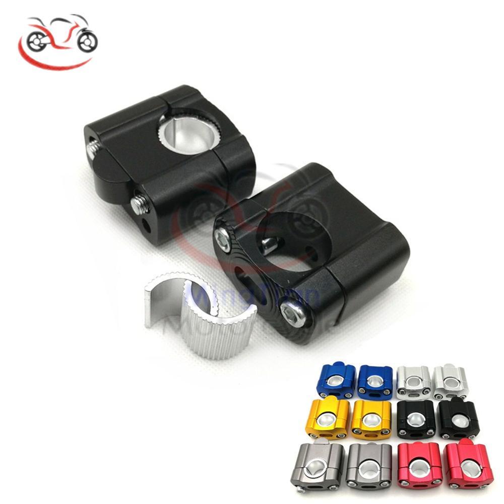 PRO CAKEN 28mm Billet CNC Handlebar Handle Bar Mount Clamp Holder Riser ATV Bike M12 Bolt Orange