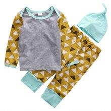 2016 Autumn Newborn Baby Boy Girl Clothes Suit 3pcs Long Sleeve T shirt Top Pant Hat