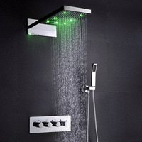 set In the rain suit made district 304 stainless steel shower faucet flower is aspersed LED multifunctional falls spill