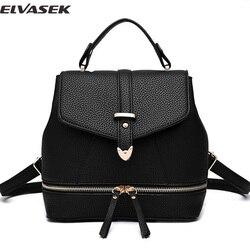 7250b0869e32 Elvasek Модные женские рюкзаки искусственная кожа рюкзак для девочек  ежедневно рюкзак школьные сумки для подростков двойной