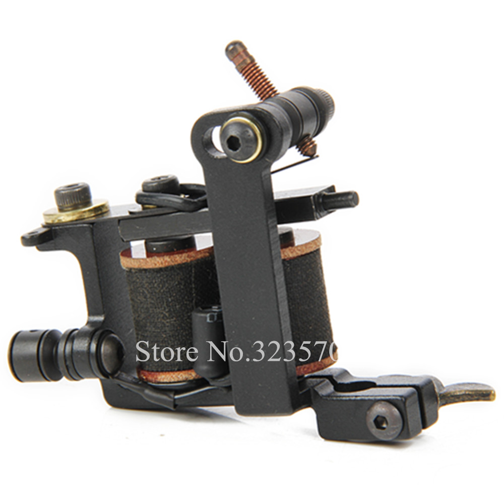 Professional Cast Iron Handmade Tattoo Machine Gun 8 Wrap Coils Tattoo Machine For Shader -- HTM-004S 8 wrap coils iron electric tattoo machine gun liner