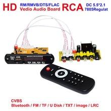 HD DTS CVBS USB RCA Audio Video Module For DIY TV BOX eBook MTV Controller Board Bluetooth TF RF Radio MP3 APE Receiver Board