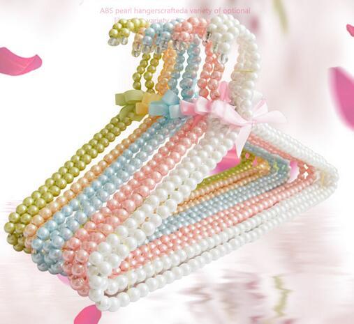 5Pcs/lot 30cm Children Plastic Pearl Hanger Baby Hangers For Clothes Pegs Kids Plastic Cloth Hanger Child Clothes Rack