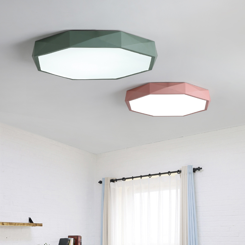 Image 2 - Macaron color Ceiling LED chandelier Round Ultra thin chandelier lighting for bed Childrens room LEDlamp lamparas de techo-in Chandeliers from Lights & Lighting