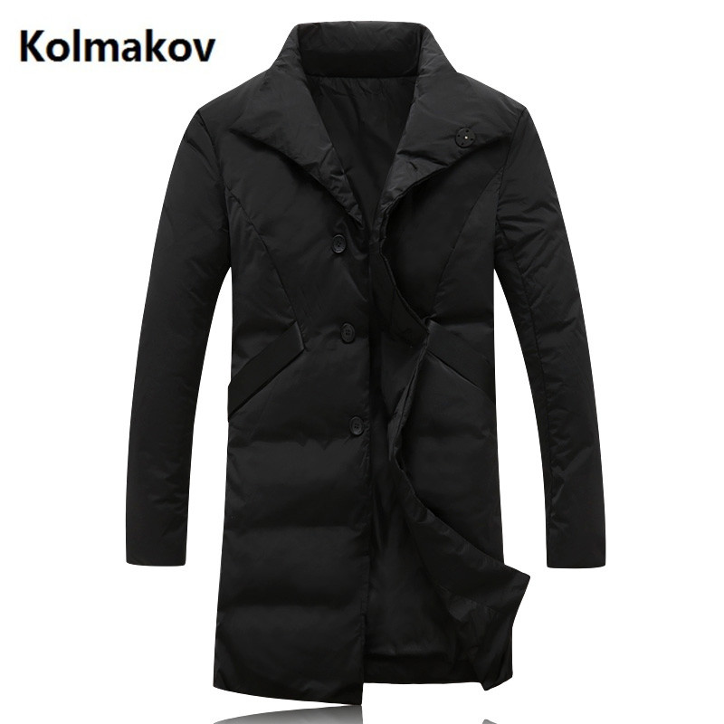 2018 New style Men   Down     Coat   Fashion Winter   Down   Jacket Long Parka Thicken 90% white duck   down   jakcets men size M-5XL