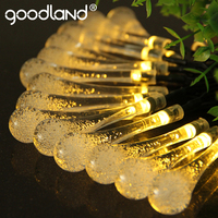 Goodland LED String Lights 6M Fairy Lights 30 Leds Water Drop Lighting Outdoor For Decoration Solar