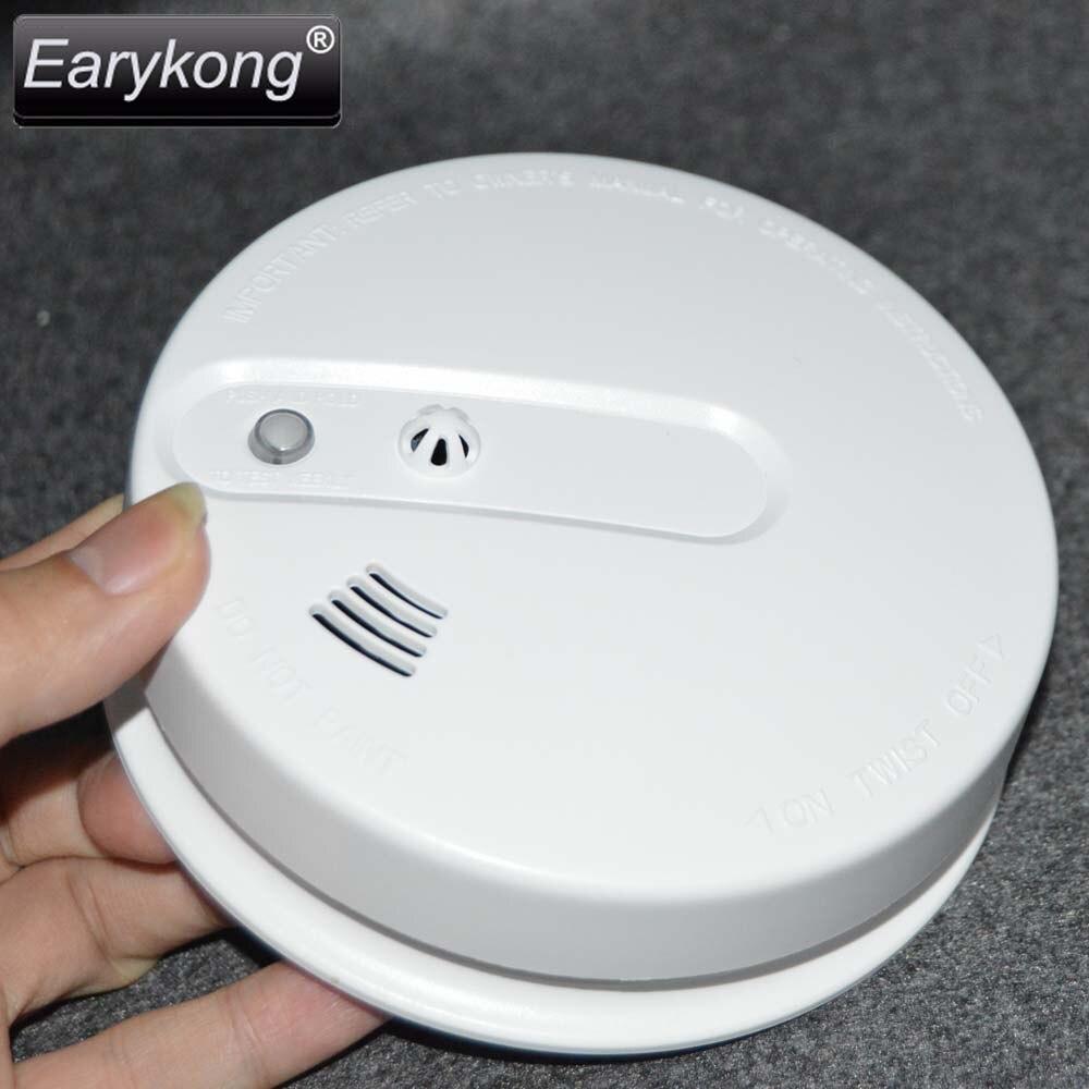 imágenes para 2016 Envío Libre Vendedor Caliente de Nueva 433 photoelectronicTemperature Inalámbrico Detector de Humo Alarma de Incendio Sensor 2 años de garantía