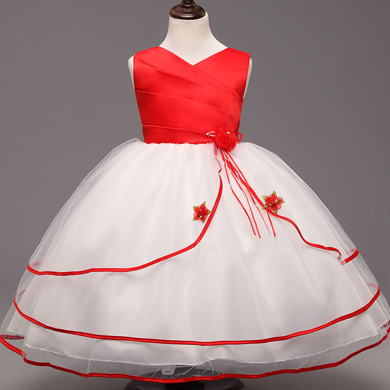 Baby Girls Dress Brand Girls Wedding Dress Lace Princess Dress for Girls Clothes Kids Dresses Children Clothing 3-7old 2.5 ladybird appliques dress wholesale clothing for girls princess baby boutique o neck clothes children polka dot dresses 6pcs lot