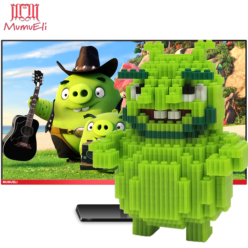 MUMUELI Angry Birds Leonard 1000-1500 Pieces DIY Game Figure 3D Model Kit Blocks Children Jigsaw Kids Building Resin Toys KL-LZF