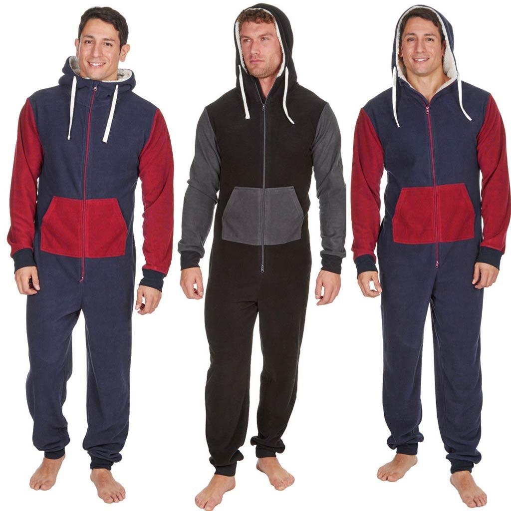 Fashion Men Jumpsuit Pure Color Splicing Autumn Winter Casual Hoodie Print Zipper Print Jumpsuit Ropa Hombre Jumpsuit Men