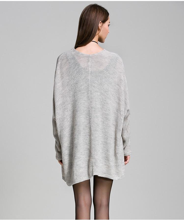 Winter Women Plus Size Long Cardigan Knitted Oversized Sweater ...