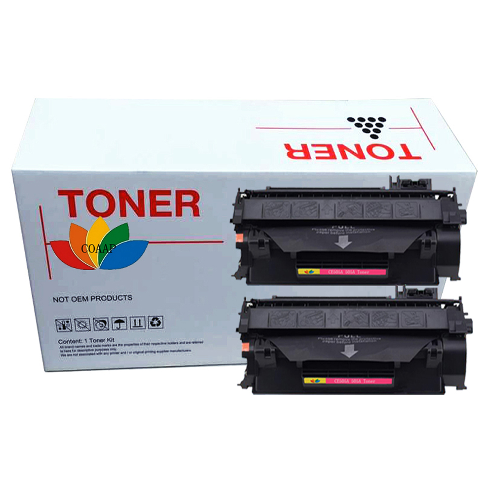 2x COAAP <font><b>05A</b></font> CE505A 05 CE505 505A CE 505 A Black <font><b>Toner</b></font> <font><b>Cartridge</b></font> Compatible for <font><b>HP</b></font> P2030/2035/2035n/P2050/2055d/2055n/2055x image