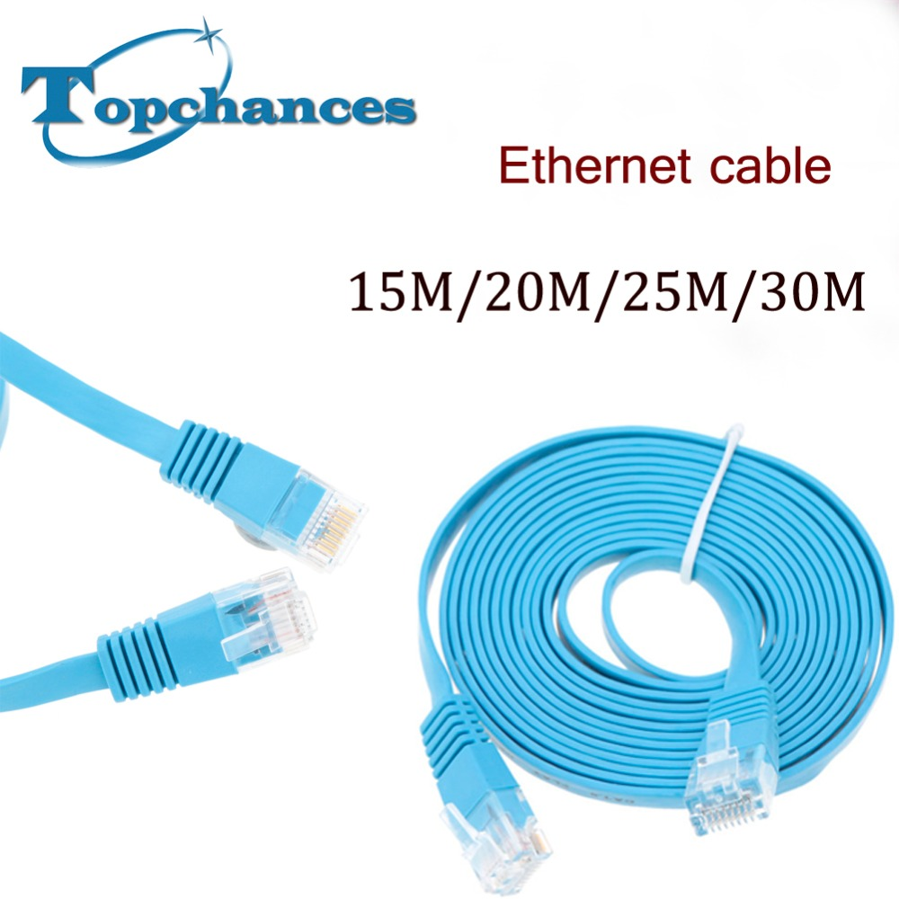 medium resolution of high speed cat6 ethernet flat cable rj45 computer lan internet network cord 15m 20m 25m 30m 98 42ft high quality in data cables from consumer electronics on