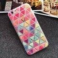 Moda doce Coque para iPhone6 6 S 5 5S 6 Plus 6 S Plus geométricas impressão PC + TPU para iphone 6 capa telefone