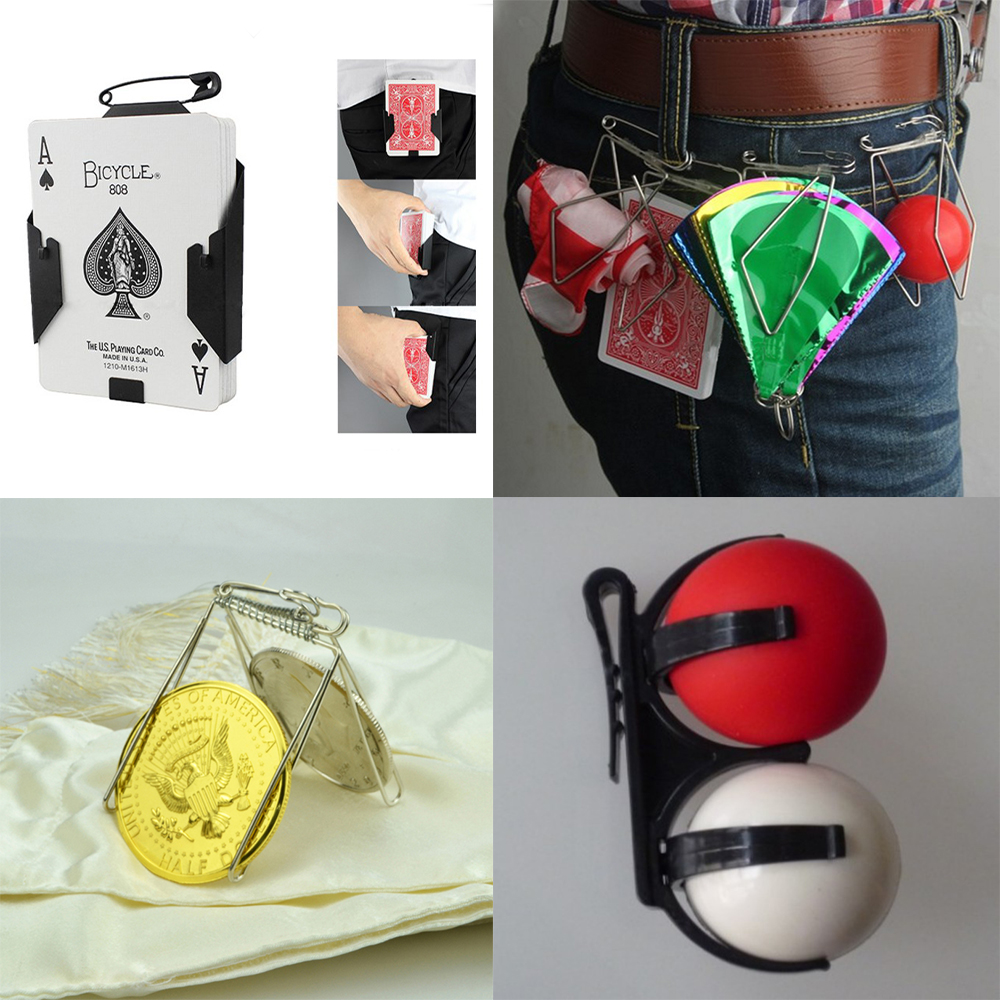 Appearing Cards Flowers Ball Silks Clip Stage Magic Tricks Props Professional Magician