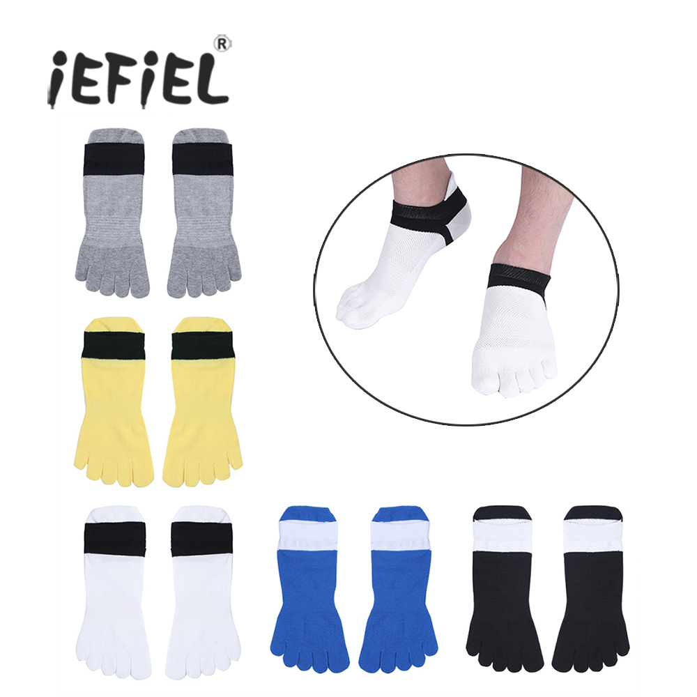 iEFiEL High Quality 5 Pairs Five Toes Separated Comfortable Low Cut Socks for Men and Women for Activities Everyday Sock