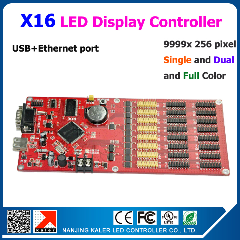 Free Shipping 10 Pcs Ethernet And Usb Port X16 Led Control Card Fro Signle Dual Full Color Led Display Support Multi-language