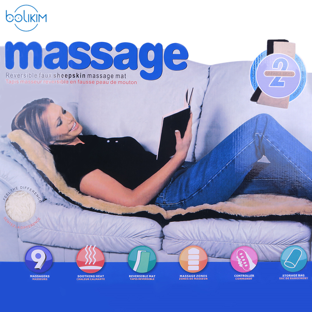BOLIKIM Collapsible Back Leg Waist Full-body Electric Massage Mattress Health Care Multifunction Chair Blanket Bed Back Massager electric blanket automatic protection type thickening single electric blanket body warmer the heated blanket electric mat carpet