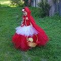 Красная Шапочка Хэллоуин Рождественские Костюмы Девушки Косплей Платье Балетной Пачки детская Дети Принцессы Партия Платья Производительность