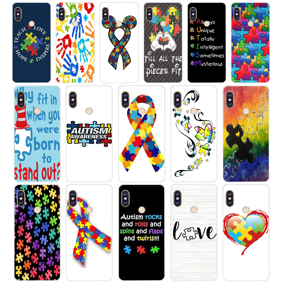 Half-wrapped Case Hospitable 259sd Puzzle Autism Awareness Style Soft Silicone Tpu Cover Phone Case For Xiaomi Redmi 5a 5plus Note 5 5a Pro Mi 6 Cellphones & Telecommunications