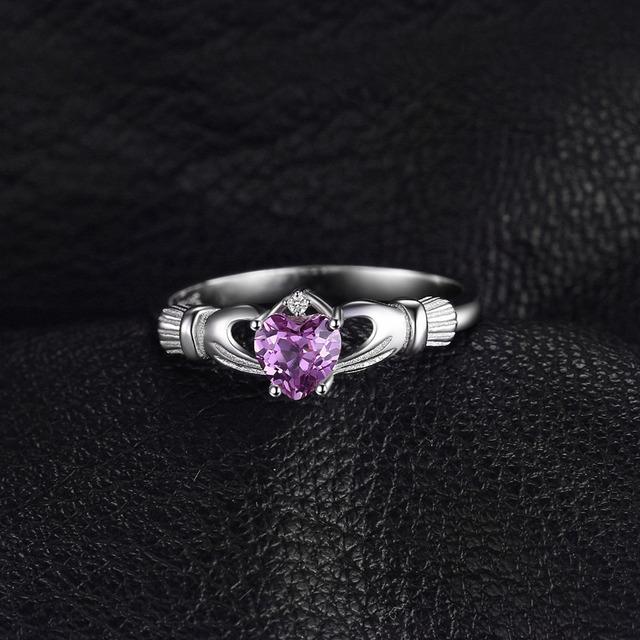 Amethyst Claddagh Ring